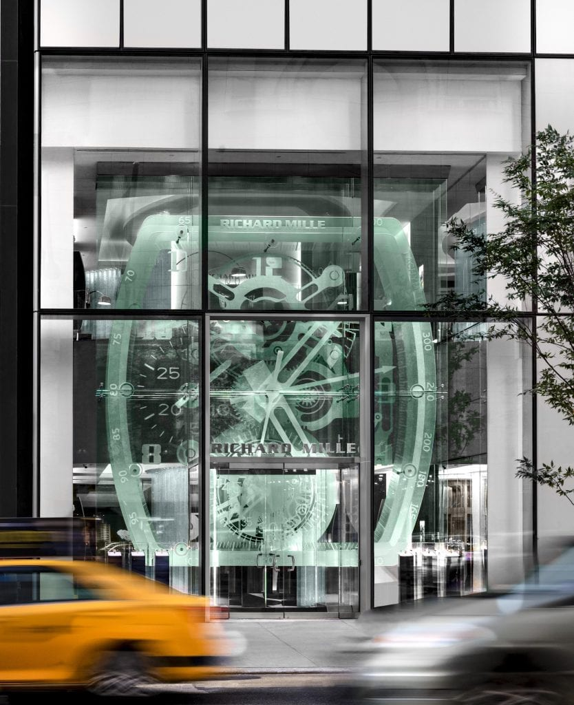 Richard Mille Store Front, New York