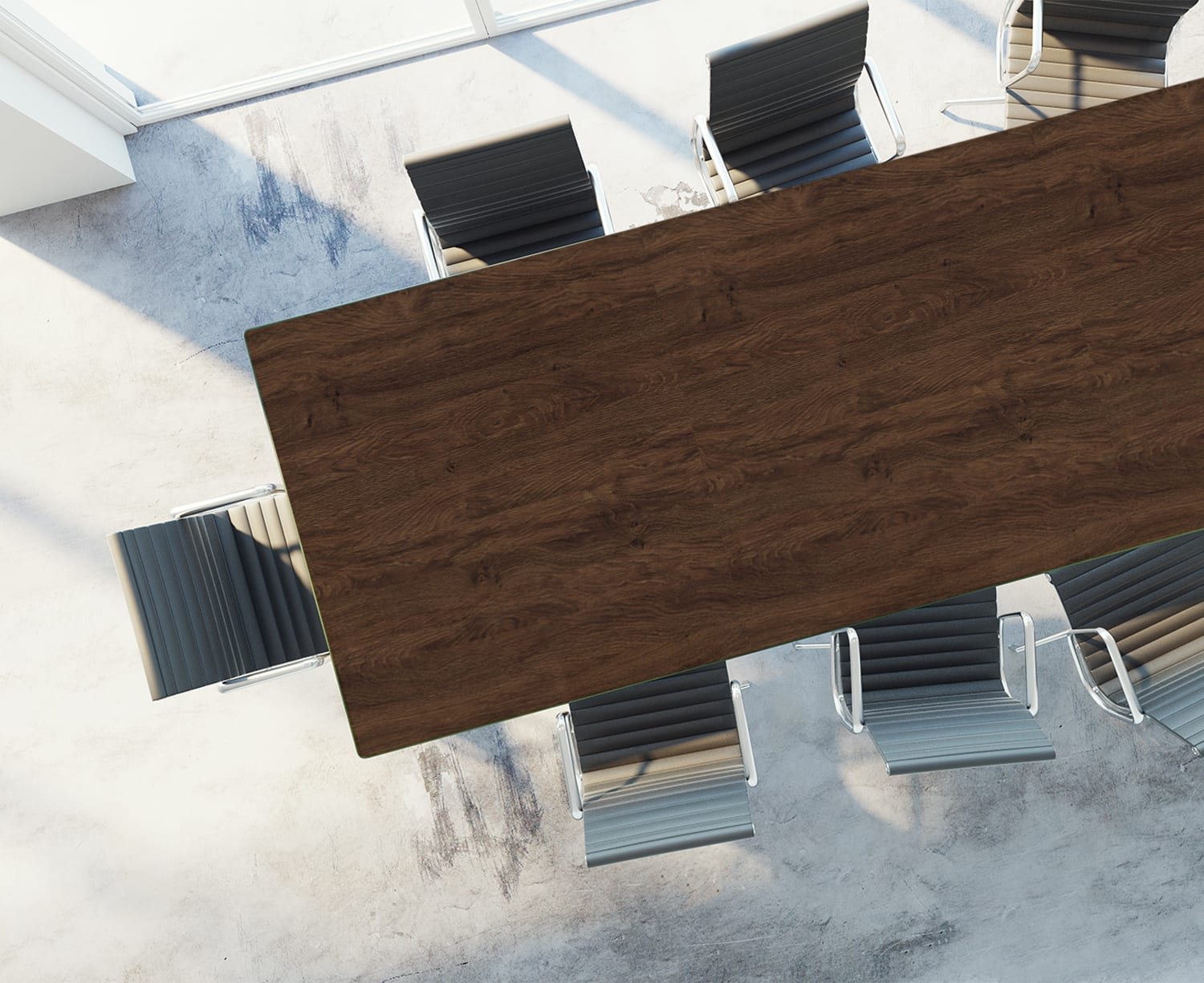 Table Top Rendering of Deep Walnut
