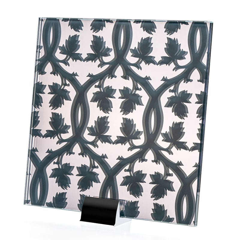 1855-ALT Organic Pattern Etched and Printed Mirror