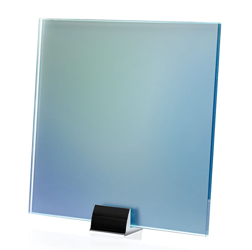 2148-ALT Blue Iridescent Gradient Printed Laminated Glass