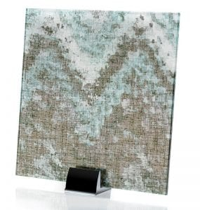 3000-ALT Satin Watercolor Green | Fabric Laminated Glass