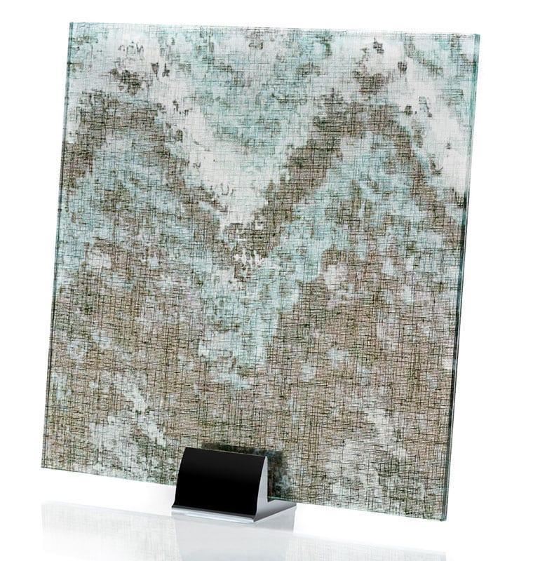 3000-ALT Satin Watercolor Green | Fabric Laminated Glass