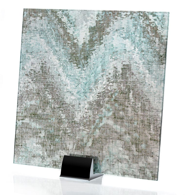 3002-ALT Watercolor Green | Fabric Laminated Glass