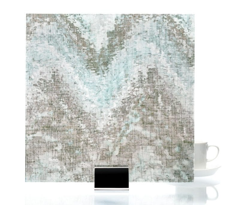 3002 - Watercolor Green | Fabric Laminated Glass