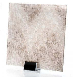 3003-ALT Satin Watercolor Taupe - Fabric Laminated Glass