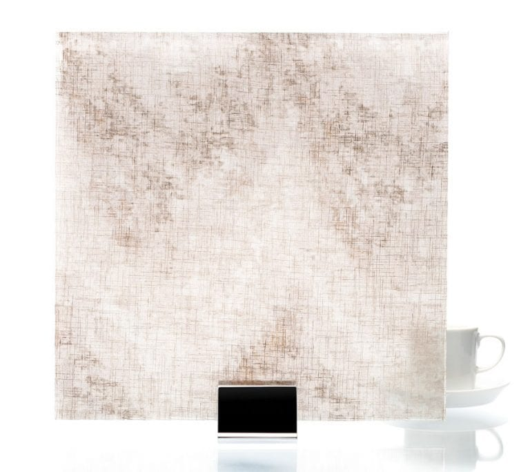 3003 - Satin Watercolor Taupe - Fabric Laminated Glass
