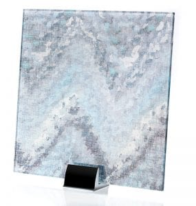 3008-ALT-Watercolor Blue-Fabric Lamianted Glass