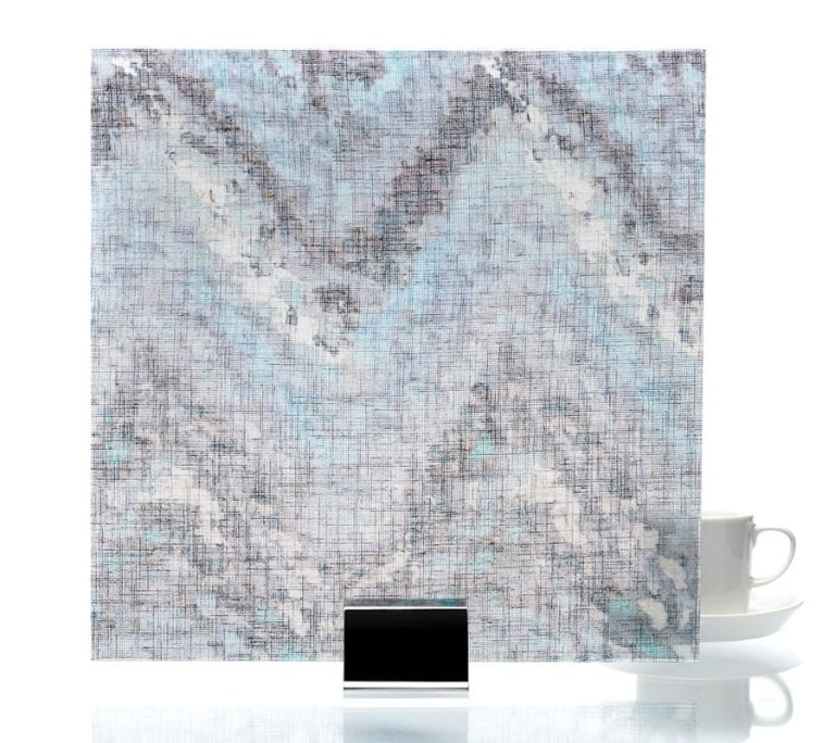 3008-Watercolor Blue-Fabric Lamianted Glass