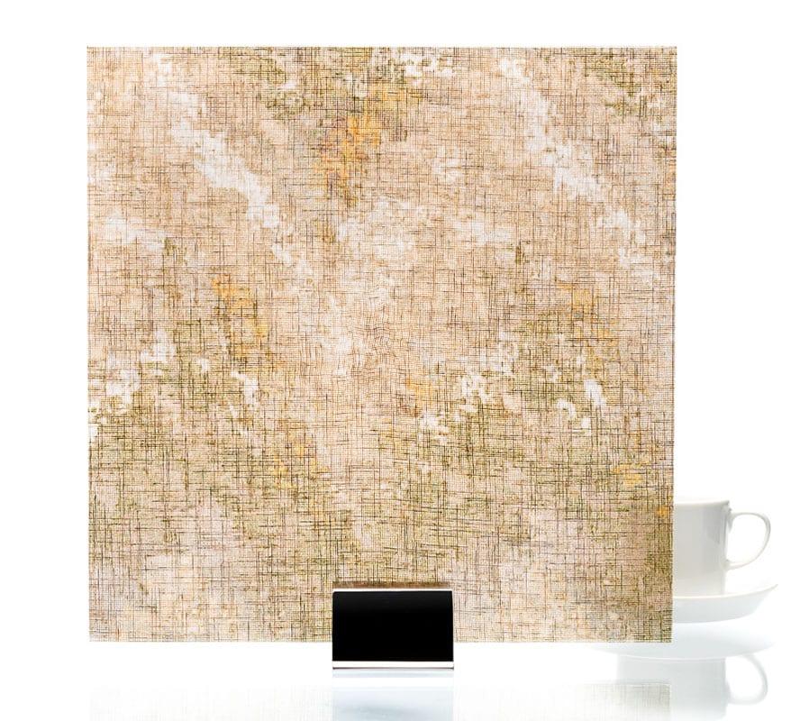 3009-Satin Watercolor Brown-Fabric Laminated Glass