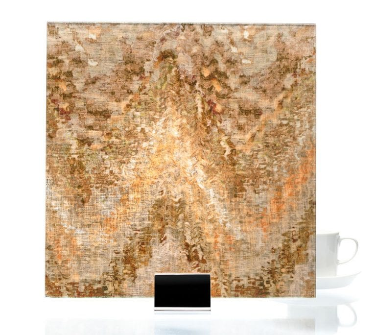 3010-Watercolor Brown on Mirror-Fabric Laminated Mirror