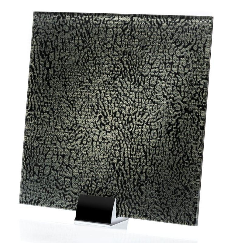 3021-ALT Satin Wishbone Scuro - Fabric Laminated Glass