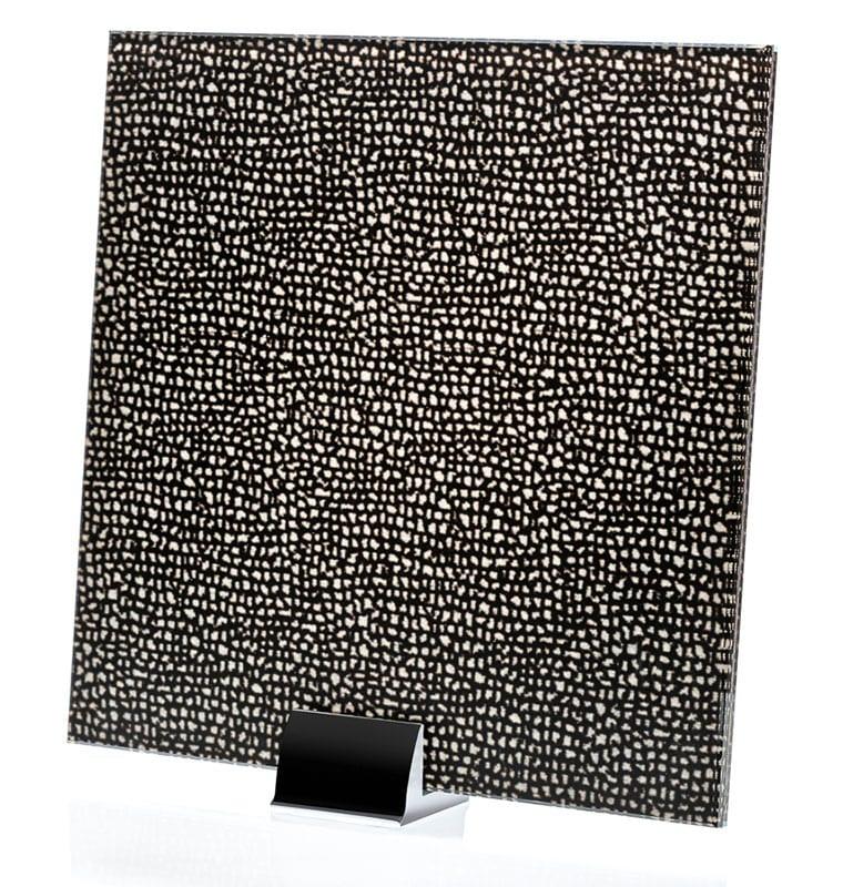 3025-ALT Chenille Argento Fabric Laminated Glass