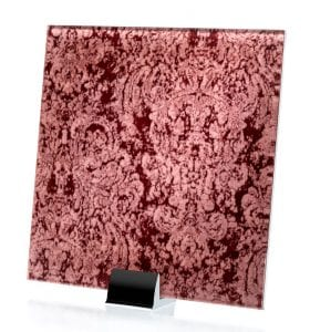 3040-ALT Heirloom Satin Pink Fabric Laminated Glass
