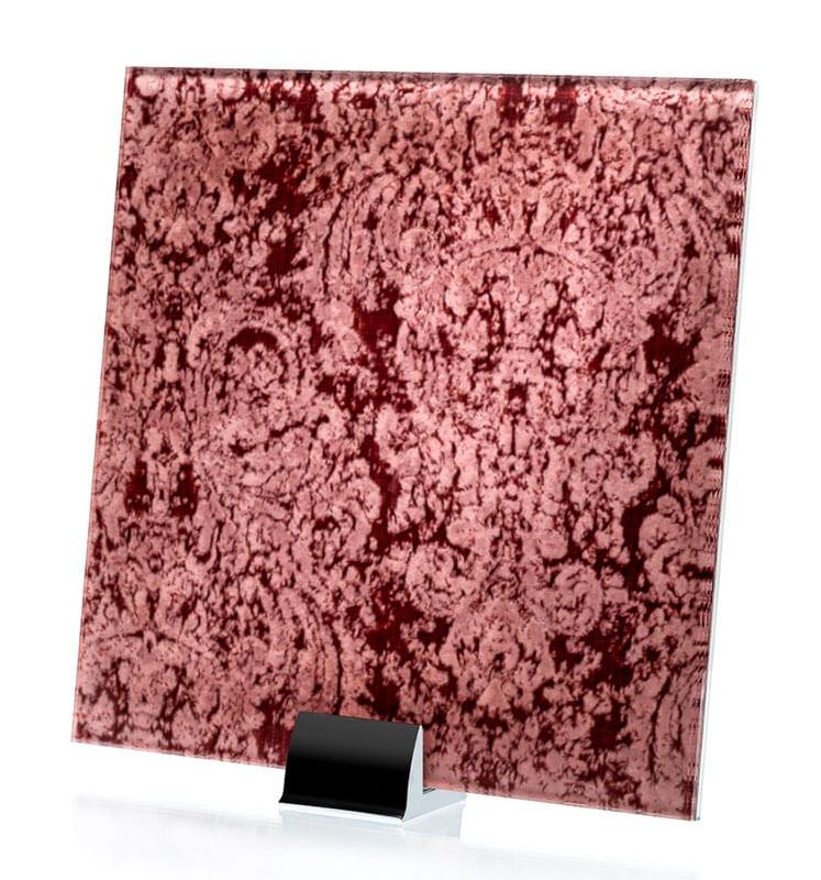 3040-ALT Heirloom Satin Pink Fabric Laminated Glass