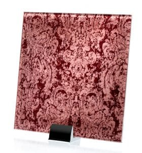 3041-ALT Heirloom Pink Fabric Laminated Glass