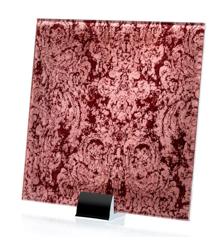 3041-ALT Heirloom Pink Fabric Laminated Glass
