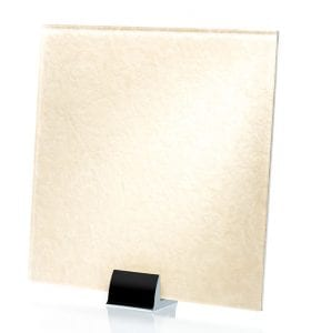 3042-ALT Heirloom Satin White Fabric Laminated Glass