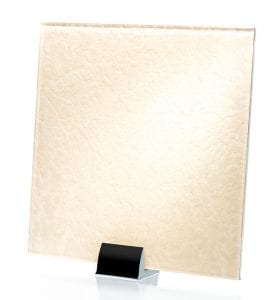 3043-ALT Heirloom White Fabric Laminated Glass