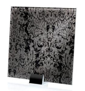 3044-ALT Heirloom Satin Black Fabric Laminated Glass