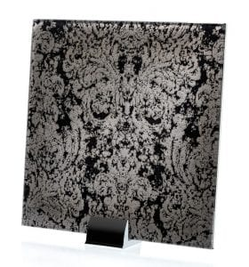 3045-ALT Heirloom Black Fabric Lamianted Glass
