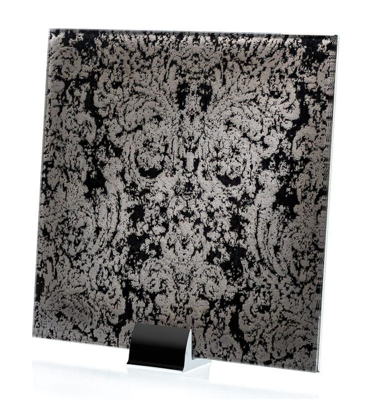 3045-ALT Heirloom Black Fabric Lamianted Glass