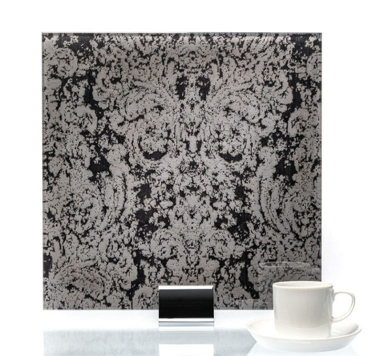 3045 - Heirloom Black Fabric Lamianted Glass