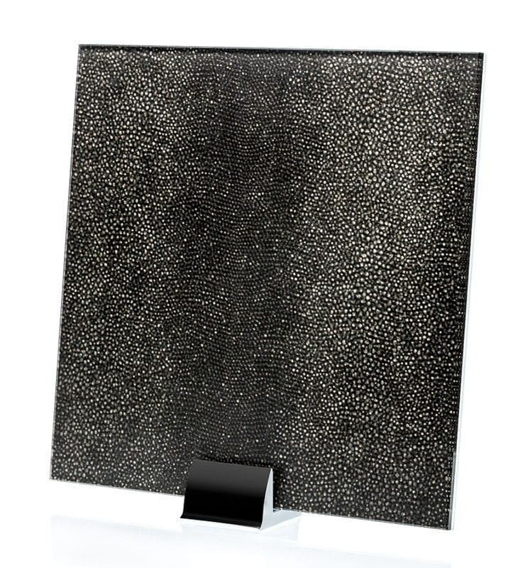 3048-ALT Reptilia Satin Nero Fabric Laminated Glass