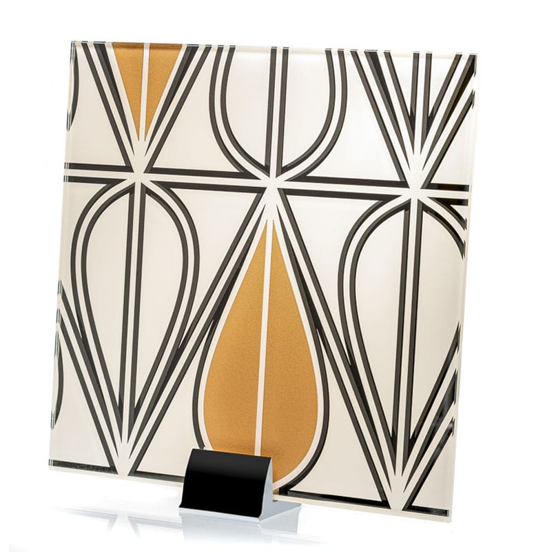 0000-ALT Art Deco Pattern Etched and Painted Mirror