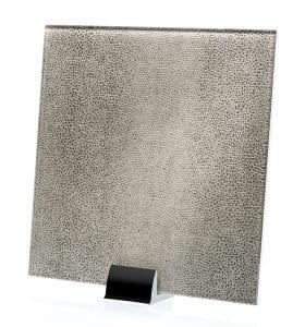 3052-ALT Reptilia Satin Argento Fabric Laminated Glass