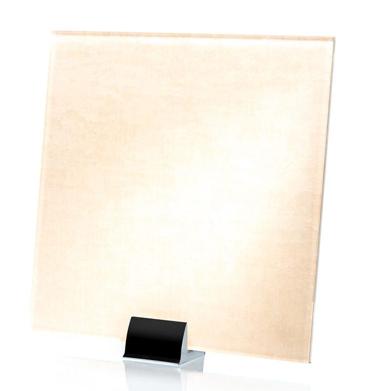 3058-ALT Velvet Satin White Fabric Laminated Glass