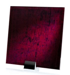3061-Velvet Cranberry Fabric Laminated Glass