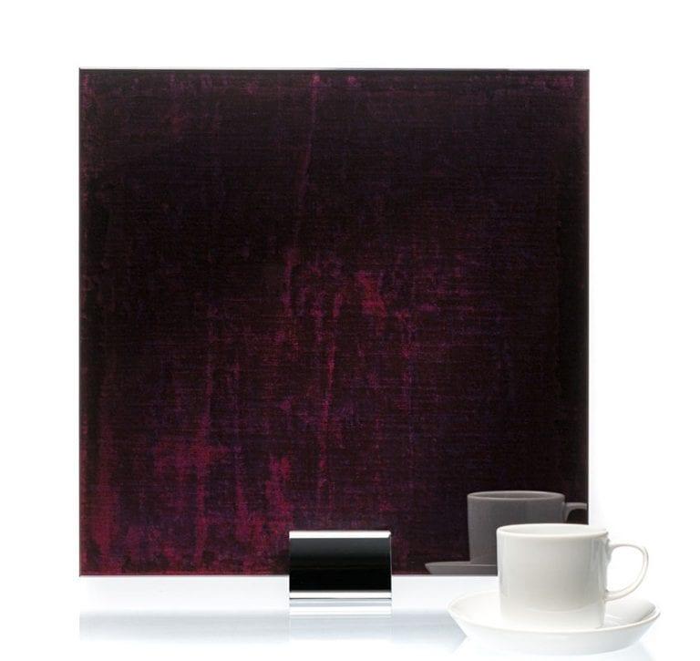 3061-Velvet Cranberry Fabric Laminated Glass