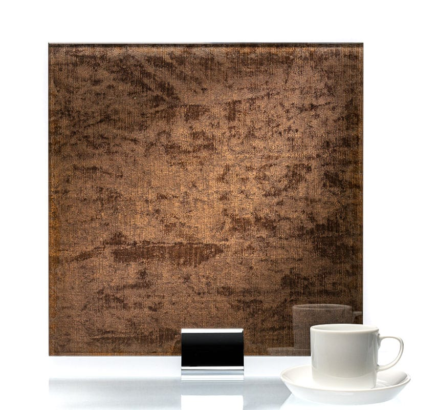 3063-Velvet Taupe Fabric Laminated Glass
