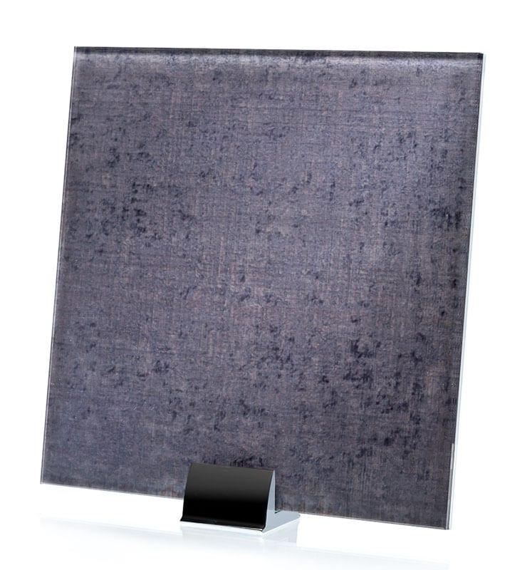 3064-ALT Velvet Satin Charcoal Fabric Laminated Glass
