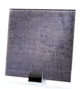 3065-ALT Velvet Charcoal Fabric Laminated Glass