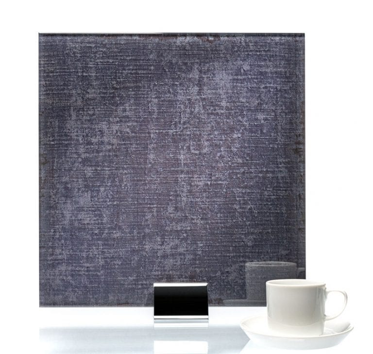 3065-Velvet Charcoal Fabric Laminated Glass