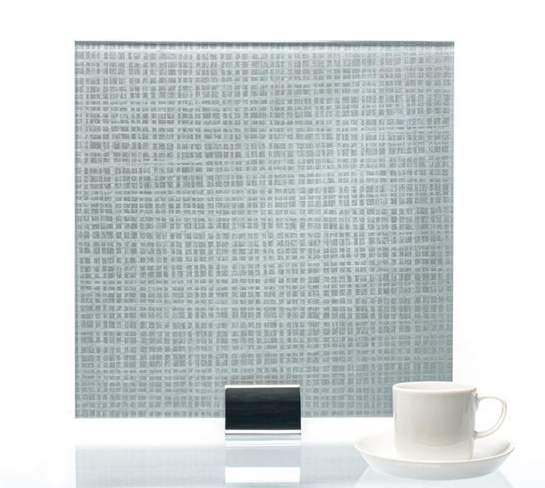 3070-Satin Plaid Cove Vinyl Laminated Glass