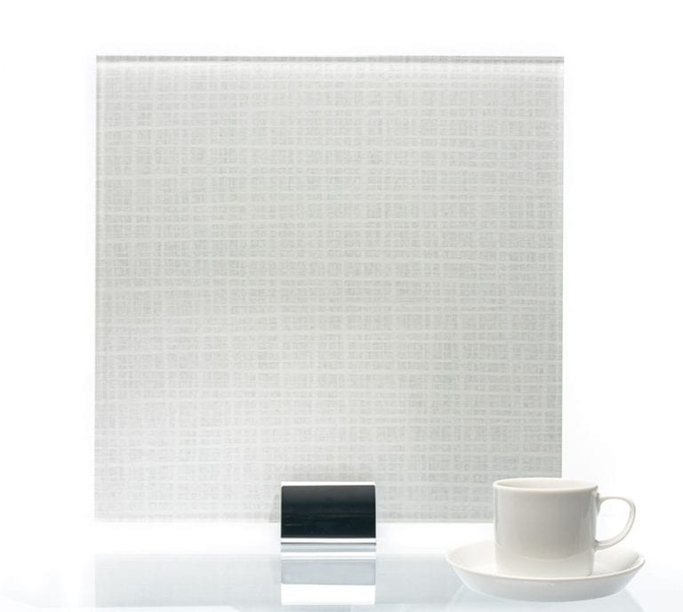 3072-Satin Plaid Glacier Vinyl Laminated Glass