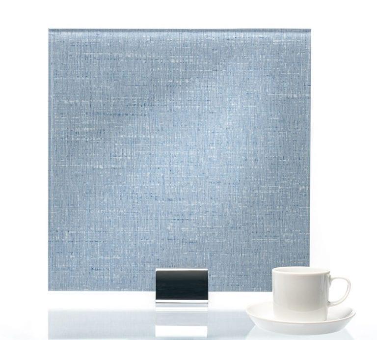 3086-Satin Twill Indigo Vinyl Laminated Glass
