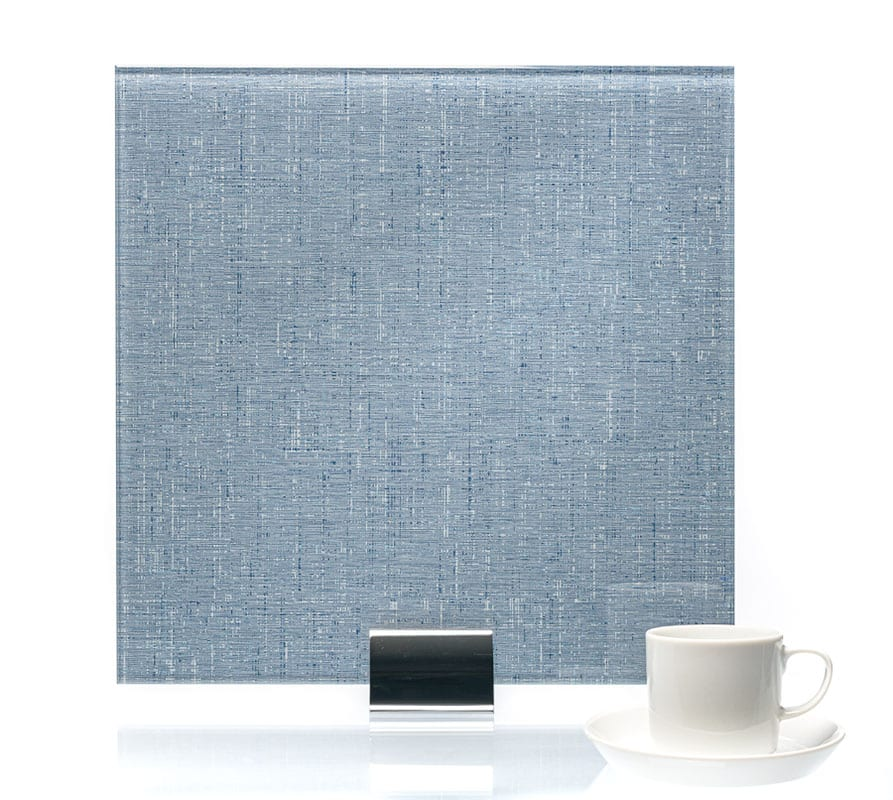 3087 Twill Indigo Vinyl Laminated Glass