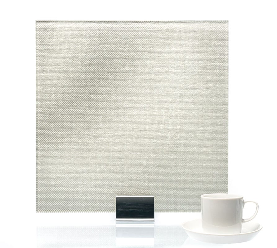 3100-Tweed Satin Tin Vinyl Laminated Glass