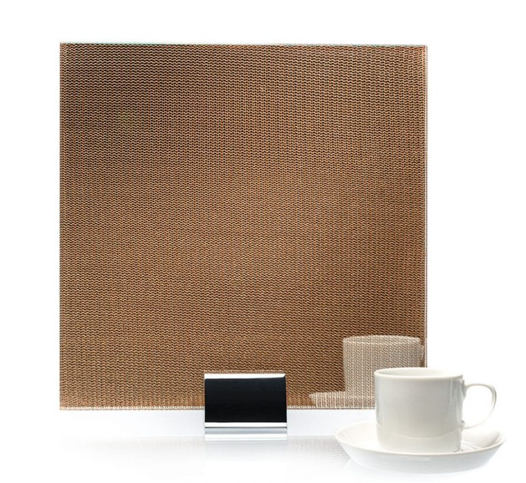 IM 3524 Simple Clear Bronze Metal Laminated Glass
