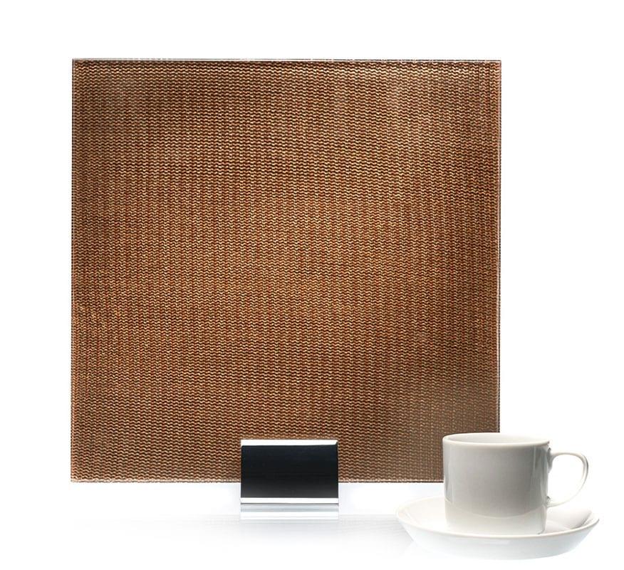 3527-Simple Satin Bronze Metal Laminated Glass