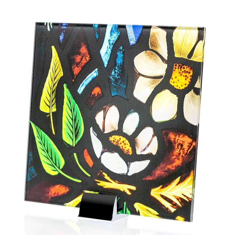 411-34-Flores Art Printed and Laminated Glass