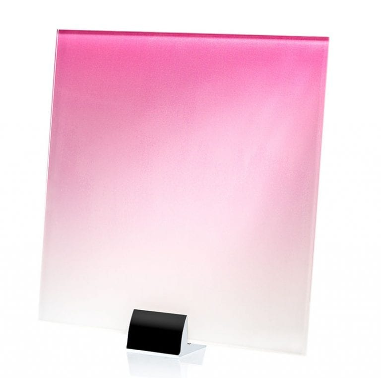 897A-ALT Pink-White Gradient Printed and Lamianted Glass