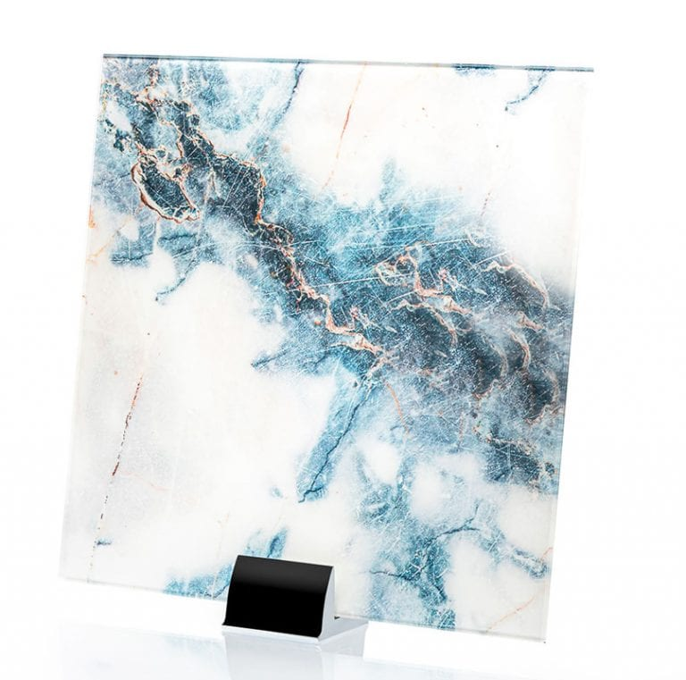IM 3320 Blue Marble Printed and Laminated Glass