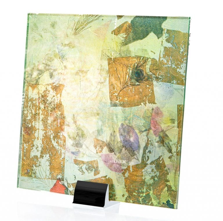 Gold Leaf Printed and Laminated Glass
