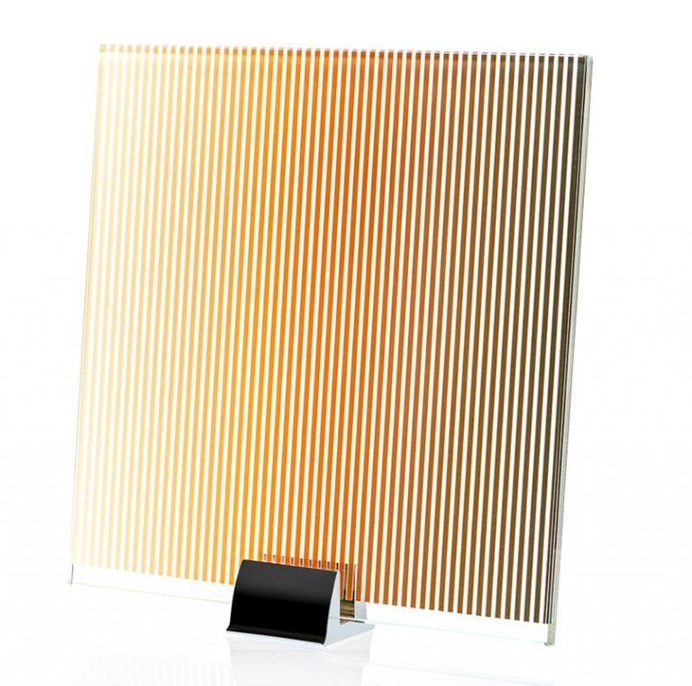 0000-ALT Gradient-Stripe Pattern Printed and Etched Glass