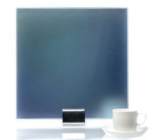IM 2148 Blue Iridescent Gradient Printed Glass