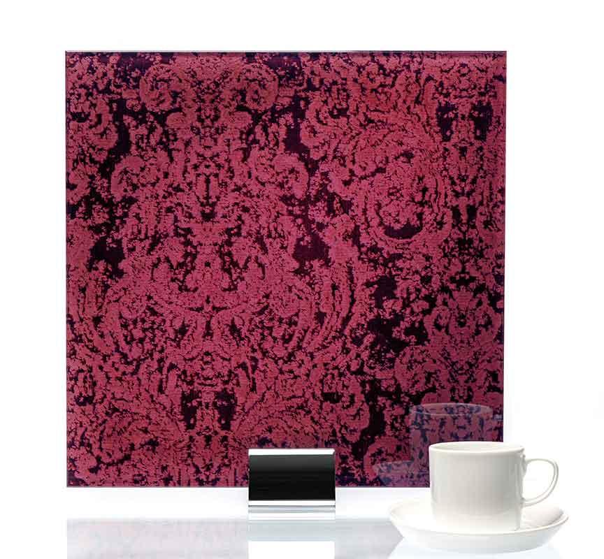 IM3047-Heirloom Cranberry Fabric Laminated Glass